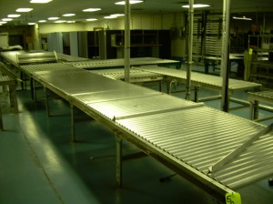 wide roller conveyor
